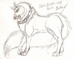 Ski--Earth Wolf Form by JedaUW