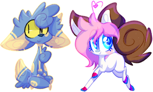 Art Trades: liqhtss + sushpuppy (+SPEEDPAINT) by OliveCow