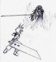 Cloud vs Sephiroth by KayboSasuke