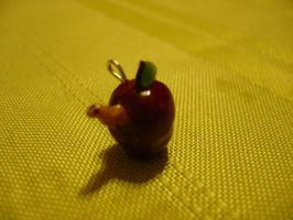 Apple and Worm Charm by chibimemories