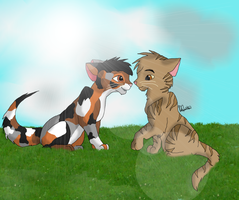 Sorreltail and Brackenfur by midwinter32