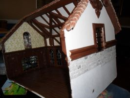 Gothic-ish Dollhouse 1:24 WIP 10: Brick Job by kayanah