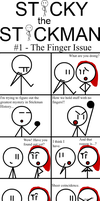 Sticky the Stickman Comics #1: The Finger Issue by Sonicyay2