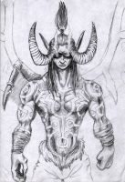 Illidan the half demon by JoriV