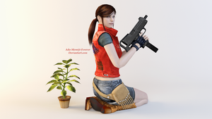 Claire Redfield Render 2 by Ada-Momiji-Forever