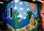 decorative painting in an elementary school by christiano2211