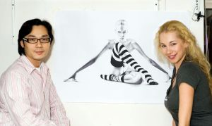 Photographer, Model and me by DiRi
