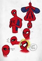 so many spidey's by bigbolin