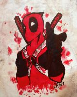 Deadpool Sharpie Doodle by CayleyAlaina