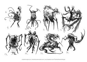 Necromorph Thumbnails 02 by LordNetsua