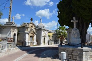 Alley of cemetery in Provence by A1Z2E3R
