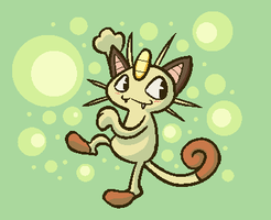 Meowth by NessStar3000