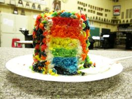 Inside of Rainbow Cake 2 by kristollini