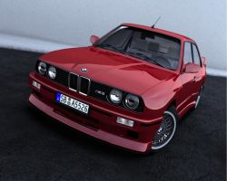 BMW E30 M3 RED by NasG85