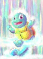 Speed paiting waterfall squirtle by blanewind13