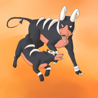 December 30th - Houndour and Houndoom by Kaeghlighn