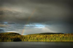 Rainbow over Kenny Lake by tfavretto