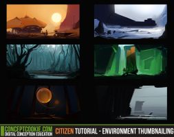 Citizen Tutorial - Environment Thumbnailing by CGCookie