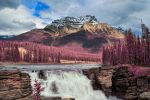 Athabasca Falls - Tickle Me Pink by somadjinn