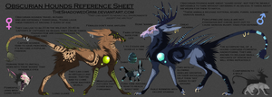 Obscurian Hounds :Closed Species: by TheShadowedGrim