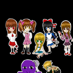 Chibi Characters Horror RPG Games~ by Aoi-Suotomi