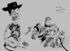 Woody and Buzz - Toy Story by DianaKristina