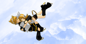 Rin and Len's Descent by XLuluxLovelyX