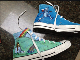 Wizard of Oz Shoes side 1 by ms-guppy