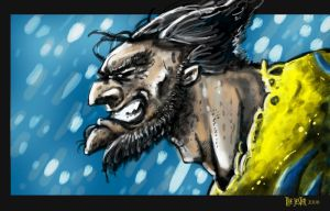 Wolverine Speed Paint by Bane-the-Jester
