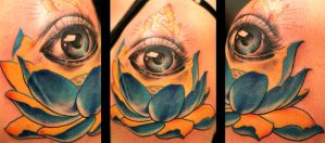 Lotus Eye by TurkesART