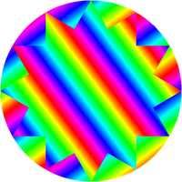 12/4 dodecagram and circle gradients by 10binary