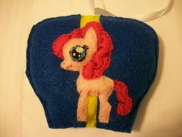 Pinkie Pie Filly with Balloon Mini Felt Ornament by grandmoonma