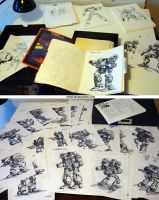 MechWarrior pile of sketches by Mecha-Zone