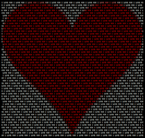 Text Heart by Youreunwelcome