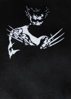 Wolverine stencil by remydarling