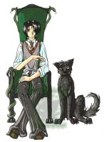 Sirius Black and Padfoot by Jateshi