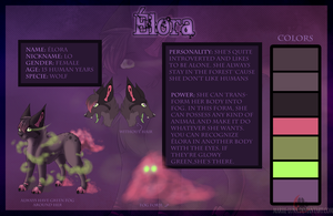Elora ref sheet 2012 +SP by Mariie-Luna