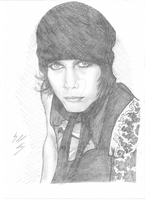 My drawing of Ville Valo by trixy-bernadotte