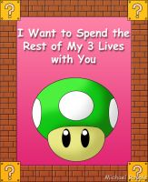 1-up Valentine by spacepig22