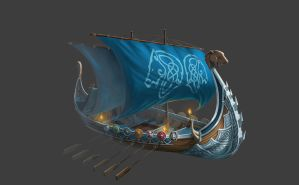 Valkyrie - viking ship by NooKiN