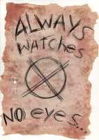 Always Watches No Eyes by z-zombiecat