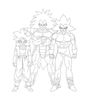 Raditz and sons by Moffett1990