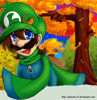 Luigi - Autumn in MK by pikachu-25