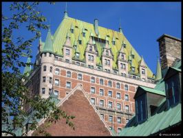 Frontenac Castle - Quebec by Zhaana