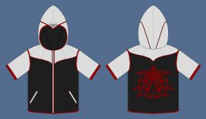 Custom Assassins Creed hoodie V2 by apaskins1991