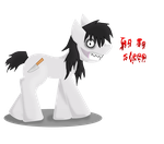 jeff the killer pony by ingart15