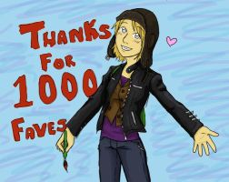 Thanks for 1000 :D by Brainiac6Techgirl