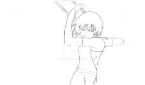 Practicing drawing Soi Fon by gamemaster8910