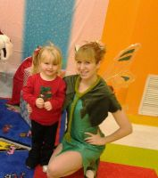 Tinker Bell with a fan. by AriadneEvans