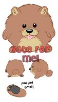 Squishable Pom- vote for me! by solitaryzombie